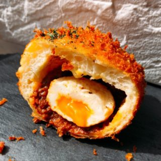 半熟卵のキーマカレー